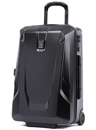 Travelpro Crew 11 Hardside Upright Luggage Obsidian Black Blue Interior Carry-On 22-Inch