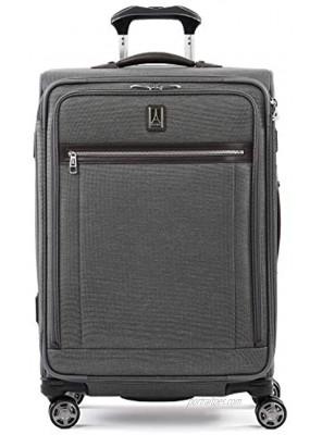 Travelpro Platinum Elite Softside Expandable Spinner Wheel Luggage Vintage Grey Checked-Medium 25-Inch