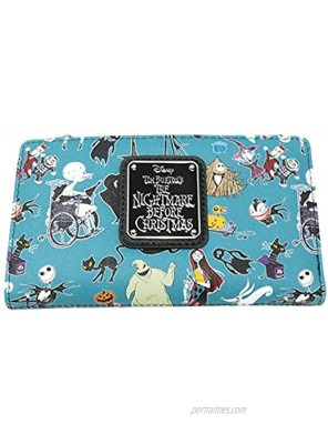 Loungefly Disney The Nightmare Before Christmas Allover Print Bi-fold Wallet