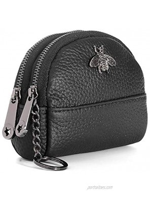 imeetu Women Coin Purse Mini Pouch Leather Wallet with Keychain Ring