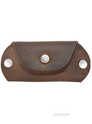 Hide & Drink Leather Wallet Keychain Key Holder Organizer Everyday Accessories Handmade :: Bourbon Brown