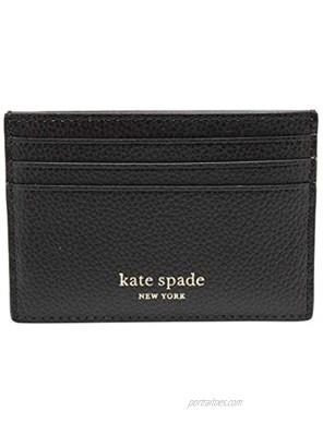 Kate Spade New York Eva Small Slim Cardholder Black Patina One Size