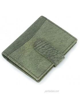 Zap Impex Pocket Minimalist Leather Slim Green Card Holder Credit Card Debit Card Holder