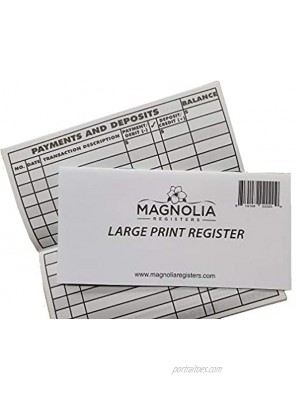10 Pack Large Print Low Vision Checkbook Registers 3 x 6 Check Registers for Personal Checkbooks