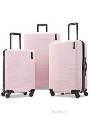 American Tourister Stratum XLT Expandable Hardside Luggage with Spinner Wheels Pink Blush 3-Piece Set 20 24 28