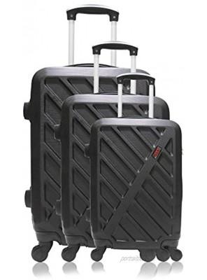 Hero Hierro Luggage Set 69 cm 188 liters Black Noir
