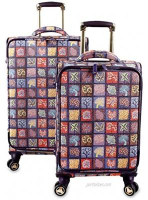 J World New York Bella Collaboration 2-Piece Luggage Set Seasons One Size