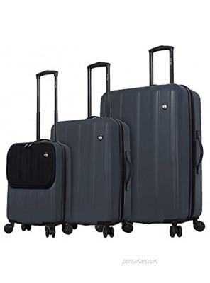 Mia Toro Furbo Smart Italy Hardside Spinner Luggage 3pc Set Black One Size