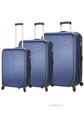 Mia Toro Italy Aquila Hardside Spinner Luggage 3 Piece Set Blue One Size