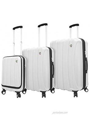 Mia Toro Italy Tasca Fusion Hardside Spinner Luggage 3pc Set White One Size