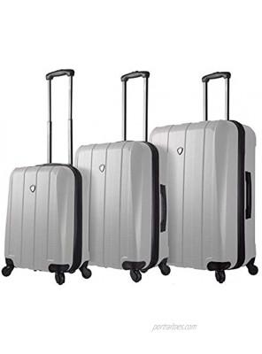 Mia Toro Italy Tosetti Hardside Spinner Luggage 3pc Set White One Size