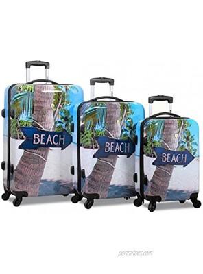 Rolite Beach Arrow Sign Hardside 3-Piece Spinner Luggage Set