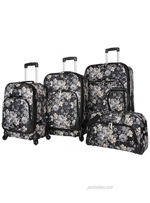 Rosetti Lighten Up Luggage Set 4 Piece Expandable Softside Suitcase With Spinner Wheels Petal Works
