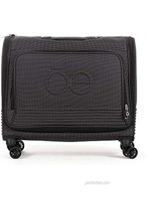 Cloe Carry-On 20 inch Garment Bag with 360º-spinner wheels in Black Color