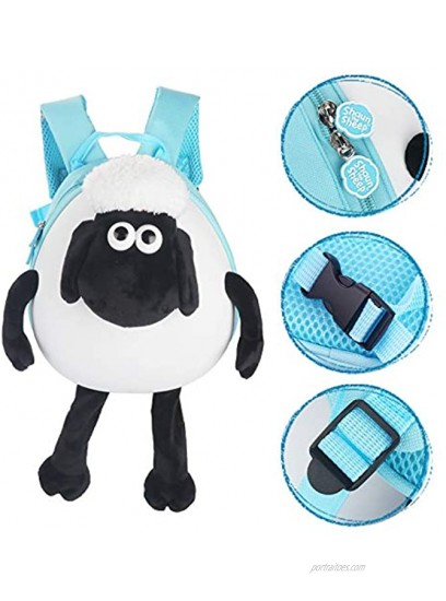 Shaun the Sheep Original Kids Ride-on and Carry-on Suitcase with Spinner Wheels,Children Luggage Light Blue