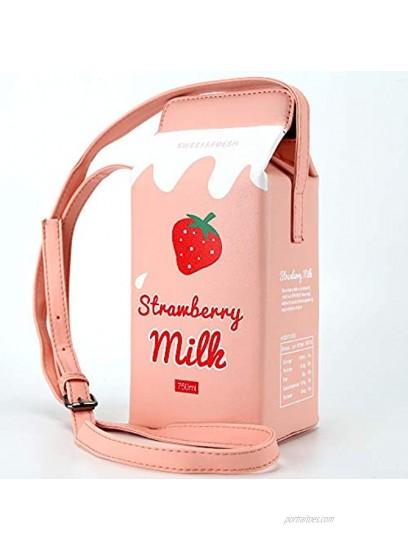 HXQ Chocolate Milk Box CrossBody Purse Bag,PU Phone Shoulder Wallet for Women Girl
