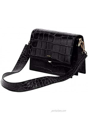 JW PEI Small Crossbody Bag for Women Vegan Leather Retro Shoulder Bag Crocodile Purse Mini Flap Bags