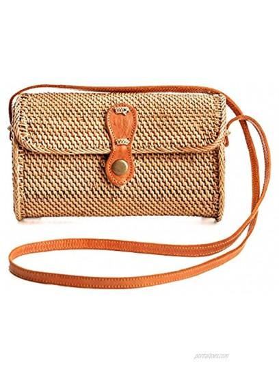 Rattan Bags for Women Handmade Wicker Woven Purse Handbag Circle Boho Bag Bali