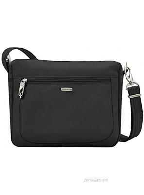 Travelon Anti-Theft-Class Small East West Crossbody Bag Black 10.5 x 8 x 2.5