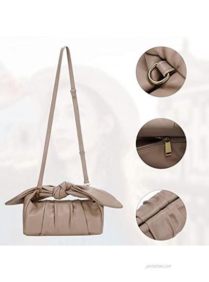 Womens Pouch Dumpling Crossbody Bag Cloud Handbag