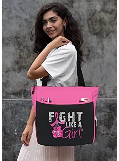Fight Like a Girl Boxing Glove Tote BagDakota Assorted Colors