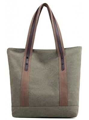 Women's Canvas Shoulder Bags Retro Casual Handbags Work Bag Tote Purses